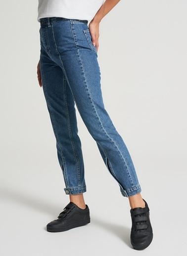 Pi π Paça Detaylı Jean Pantolon Mavi